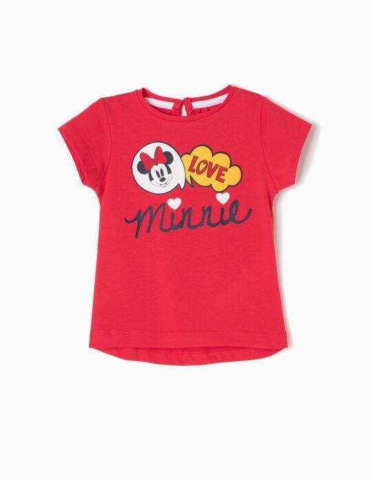 T-shirt Vermelha Minnie Love