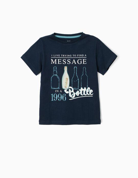Camiseta para Niño 'Bottle', Azul Oscuro