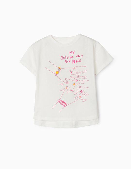 Camiseta para Niña 'Fashion Nails', Blanca