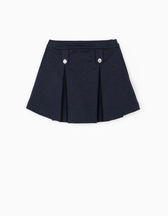 Falda de Pliegues para Niña, Azul Oscura