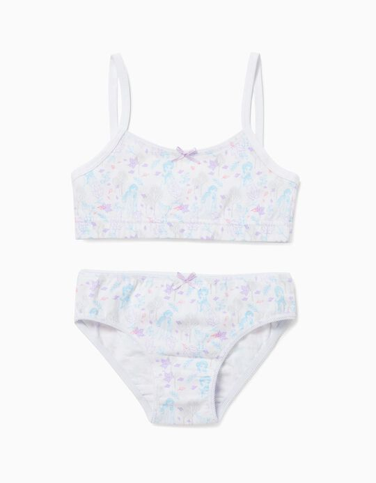Top and Briefs for Girls, 'Frozen', White