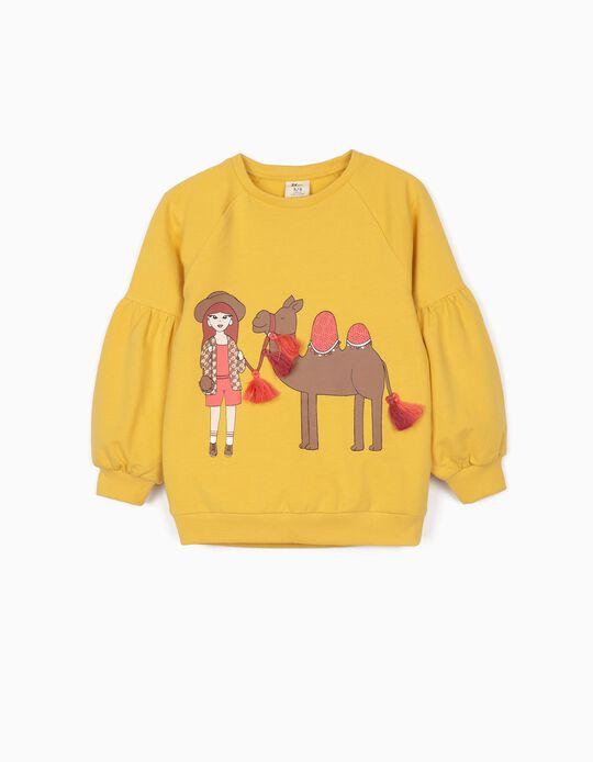 Sweatshirt for Girls, 'Egypt', Yellow
