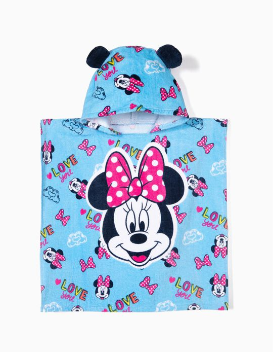 Poncho de Playa para Bebé Niña 'Minnie', Azul