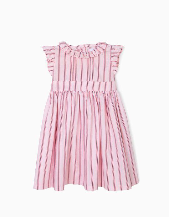 Vestido para Menina Riscas, Rosa