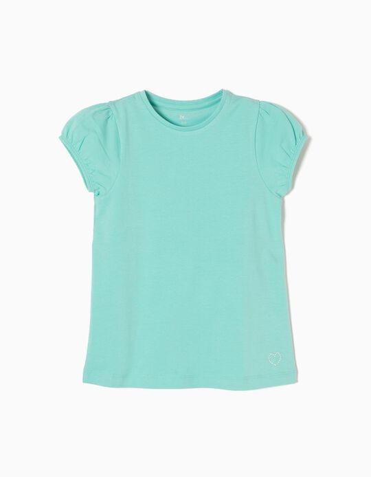 T-shirt Manga Abalonada Azul
