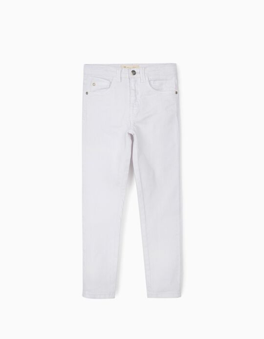 Twill Trousers for Girls 'Cosmic World', White