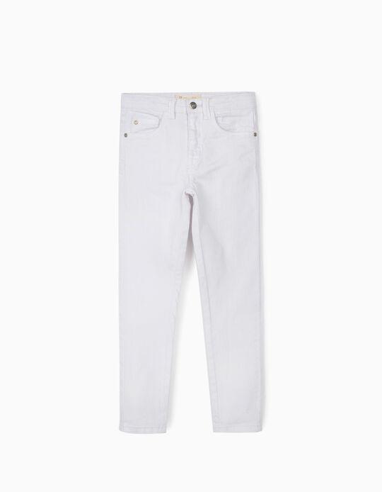 Pantalón de Sarga para Niña 'Cosmic World', Blanco