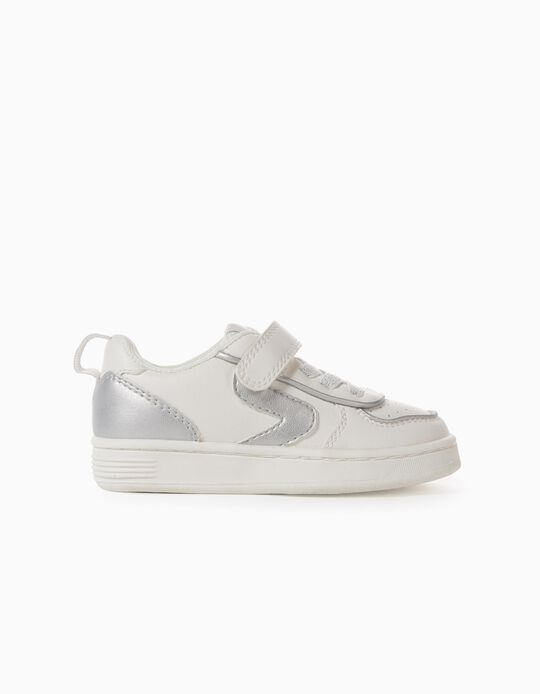Trainers for Baby Girls, 'ZY', White/Silver