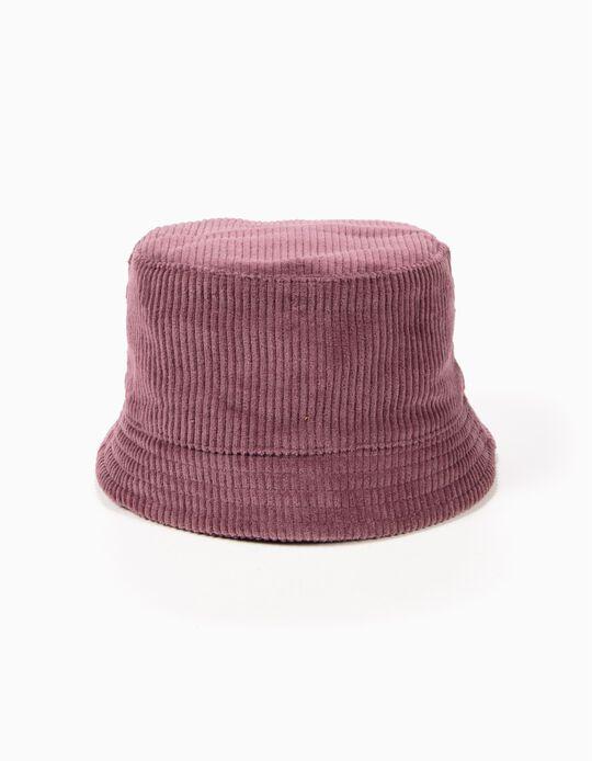 Sombrero de Pana Rosa Oscuro