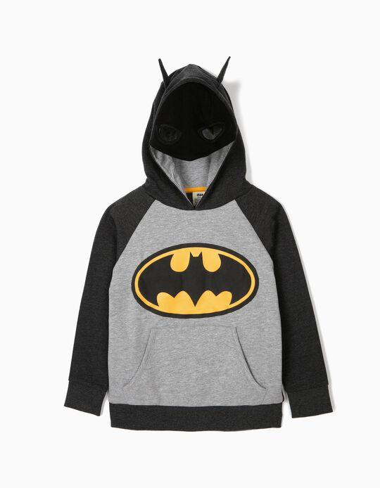 Sweatshirt com Capuz-Máscara para Menino 'Batman', Cinza e Preto