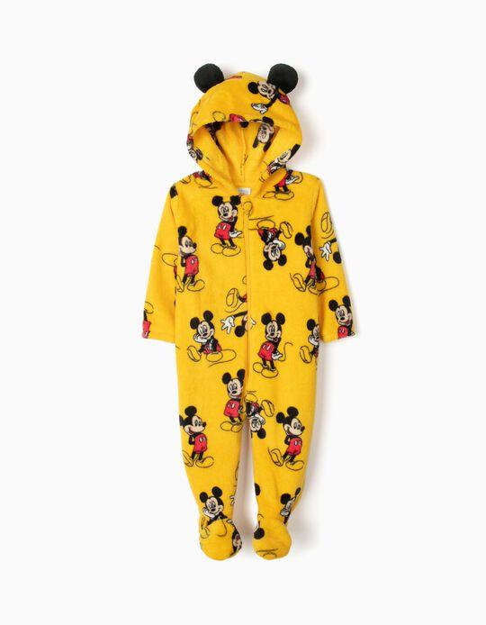 Pijama Mono con Capucha para Bebé Niño 'Mickey', Amarillo
