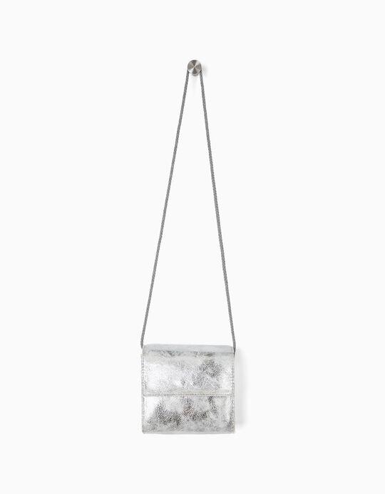 Crossbody Bag for Girls, Silver