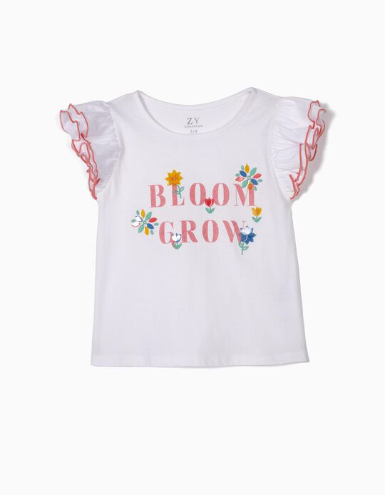 Camiseta para Niña 'Bloom Grow', Blanca