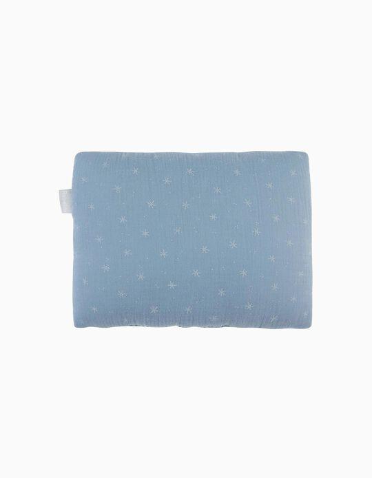 Almofada De Decoração Musselina Stars Blue
