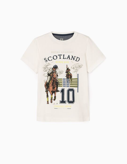 Camiseta para Niño 'Scotland', Blanca