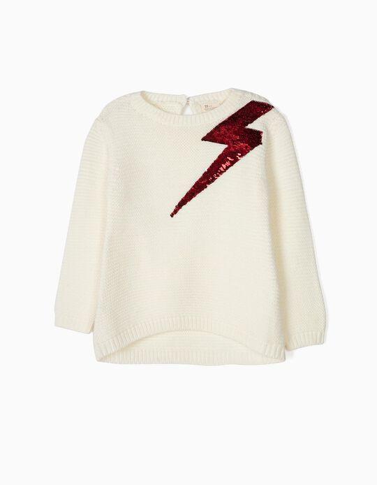 Camisola de Malha com Lantejoulas Reversíveis Lightning