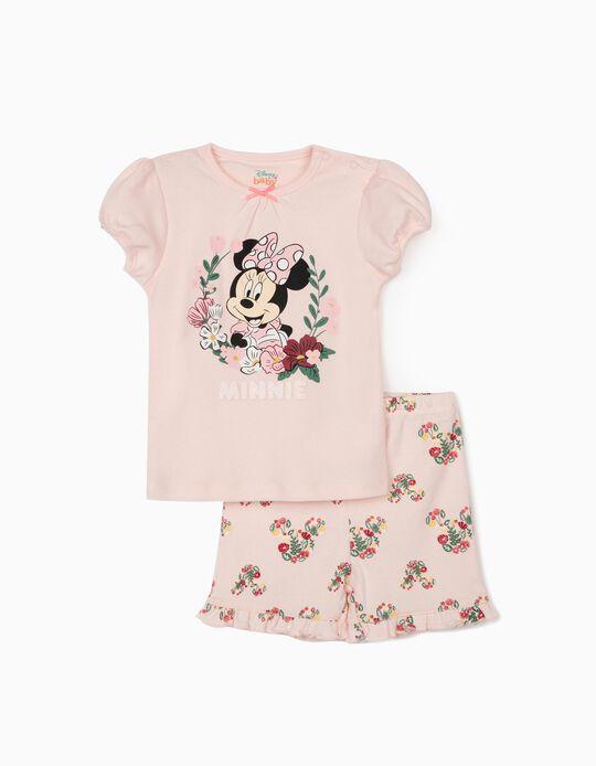 Pyjama manches courtes bébé fille 'Minnie', rose