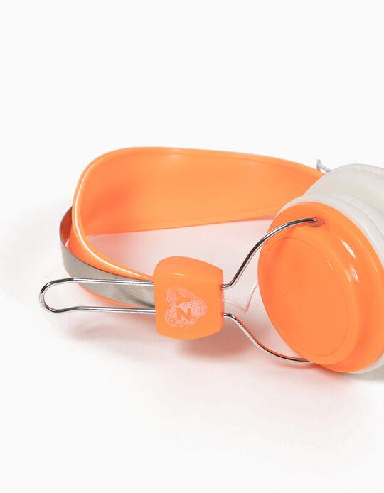 Headphones Néon Laranja