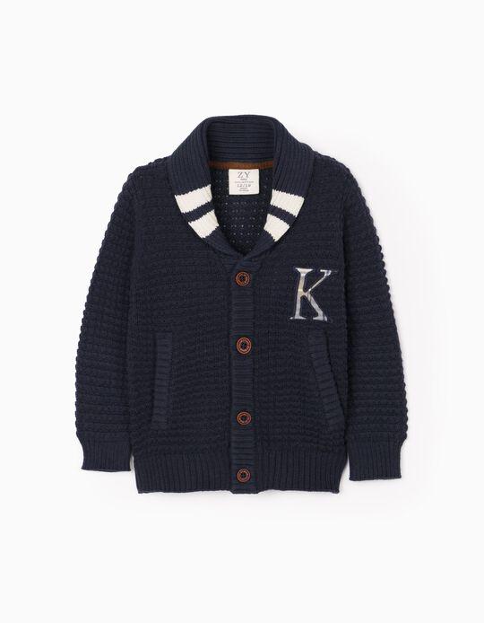 Cardigan for Baby Boys 'Kansas', Dark Blue