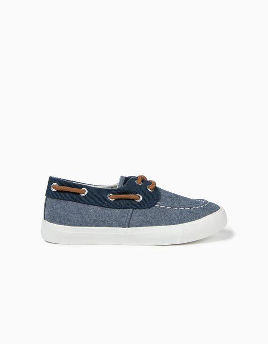 Zapatillas de Tejido para Niño, Azules