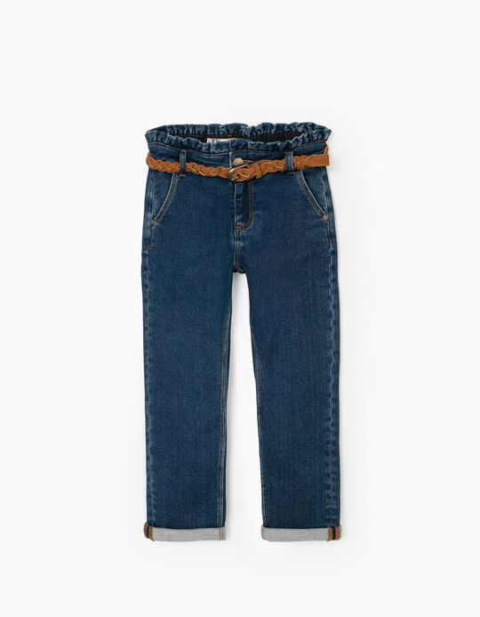 Jeans with Belt for girls, Blue