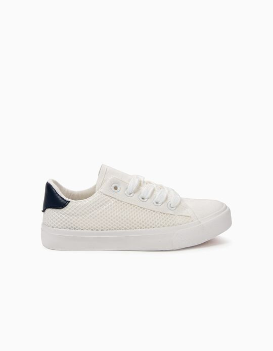 Zapatillas para Niño con Mesh, Blancas