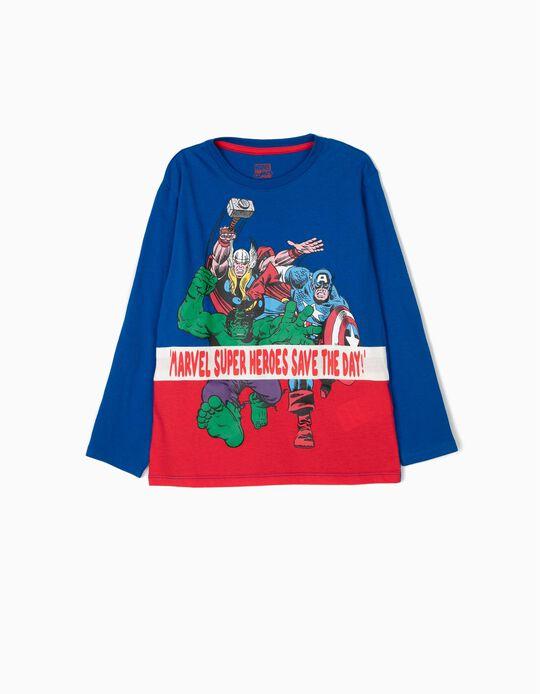 Camiseta de Manga Larga para Niño 'Marvel', Azul