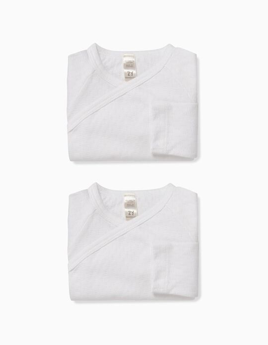Pack 2 Bodies Blancos con Relieve