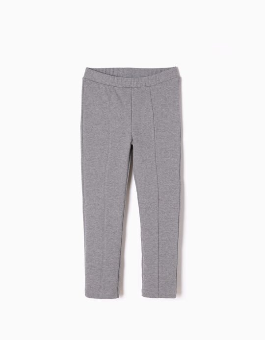 Leggings de Punto Gris