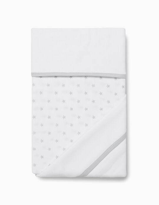 Stars Sheet & Pillowcase for 120x60cm Cot by Zy Baby, 2 Pieces