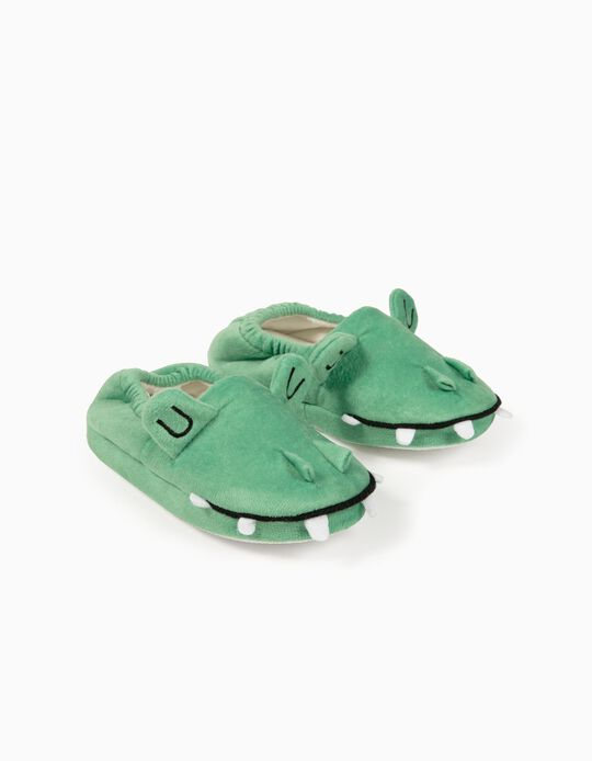 Slippers for Boys, 'Croc', Green