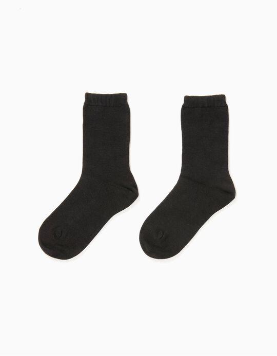 Pack 2 Pares de Calcetines Negros