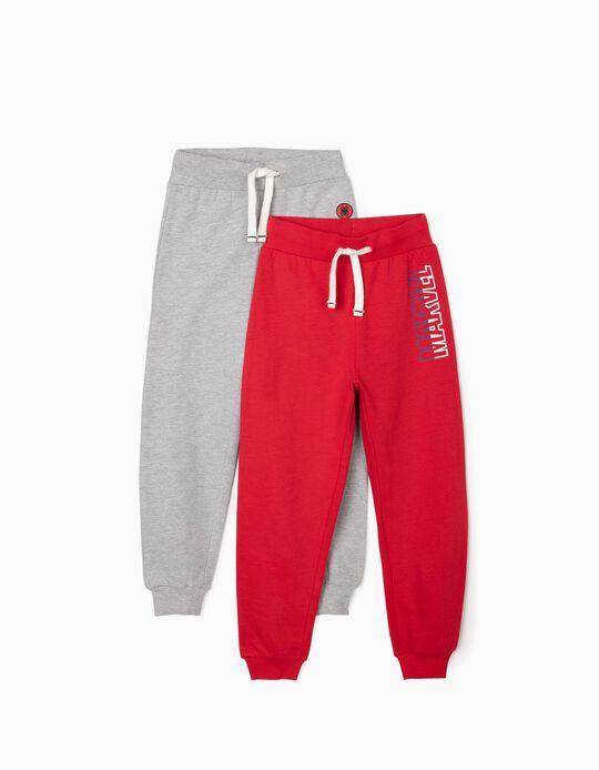 2 Pantalones de Chándal para Niño 'Spider-Man', Gris/Rojo