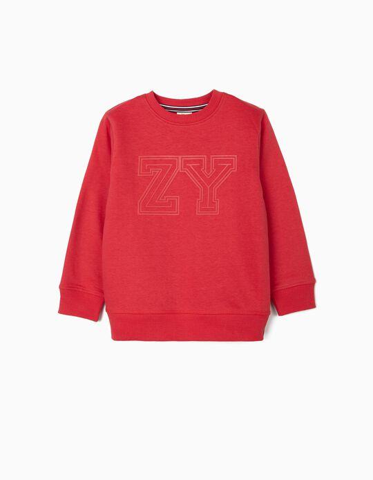 Sweat garçon 'ZY', rouge