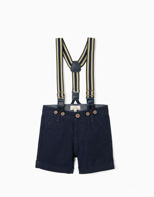 Shorts with Braces for Baby Boys, Dark Blue