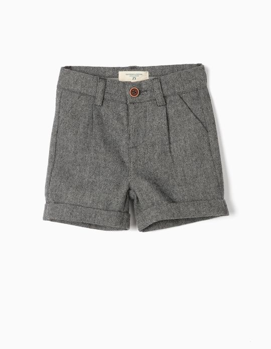 Woollen Shorts for Baby Boys 'B&S', Grey