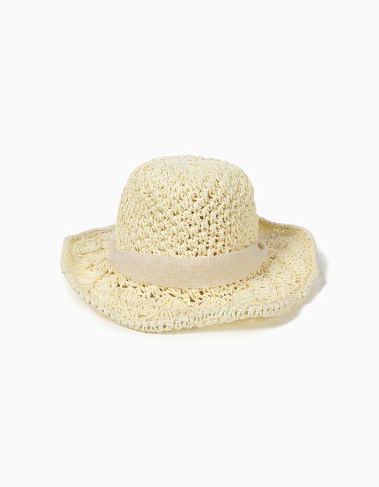 Sombrero de Paja para Niña,, Beige
