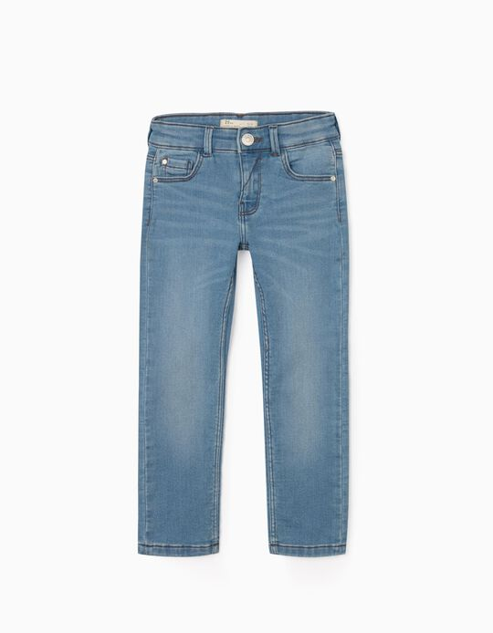 Elasticated Jeans for Boys, Light Blue