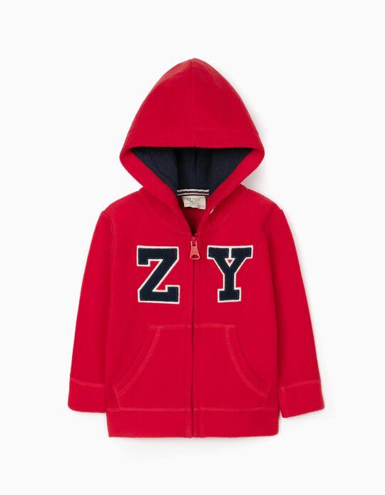 Casaco Polar com Capuz para Bebé Menino 'ZY 96', Vermelho