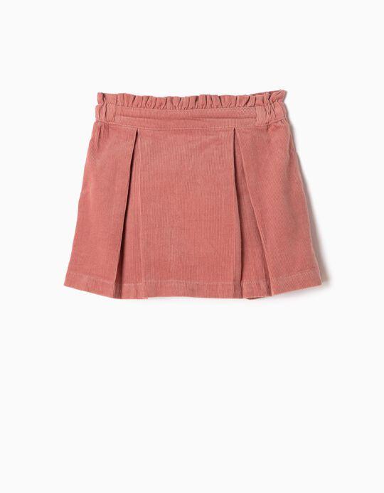 Falda de Pana Rosa