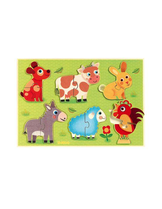 Puzzle dos Animais em Madeira Djeco