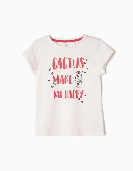 Camiseta Cactus Lover Blanca
