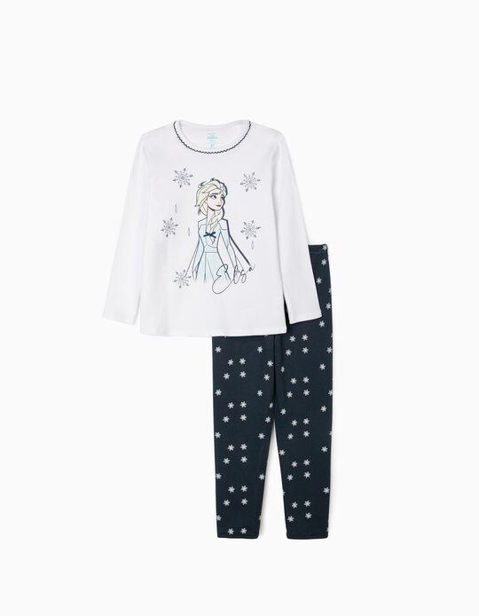Pijama para Niña 'Frozen II', Blanco/Azul Oscuro