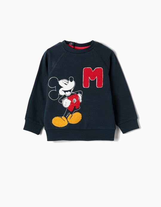 Sweatshirt para Bebé Menino 'Mickey', Azul Escuro