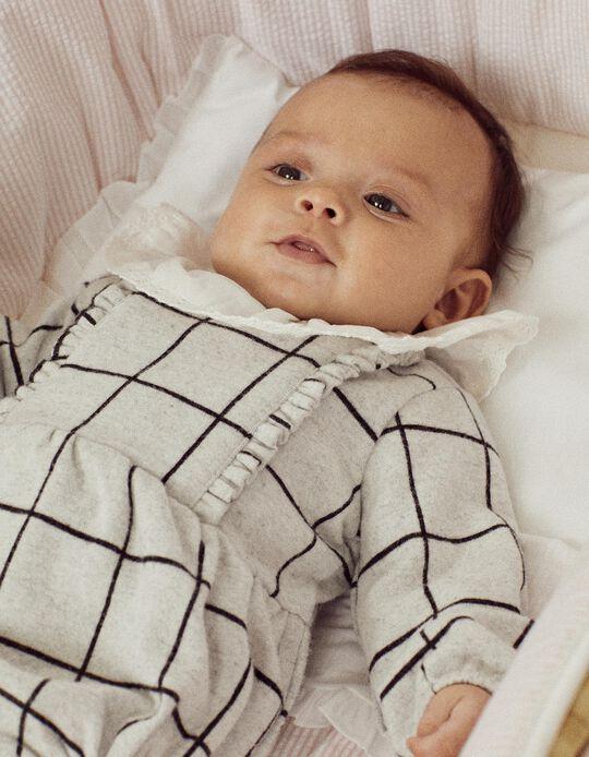 Jumpsuit for Newborn Baby Girls 'B & S', Grey