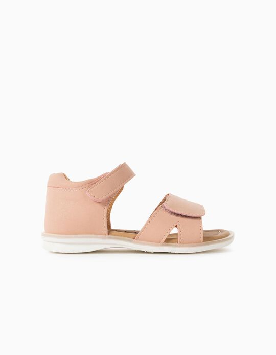 Shiny Sandals for Baby Girls, Pink