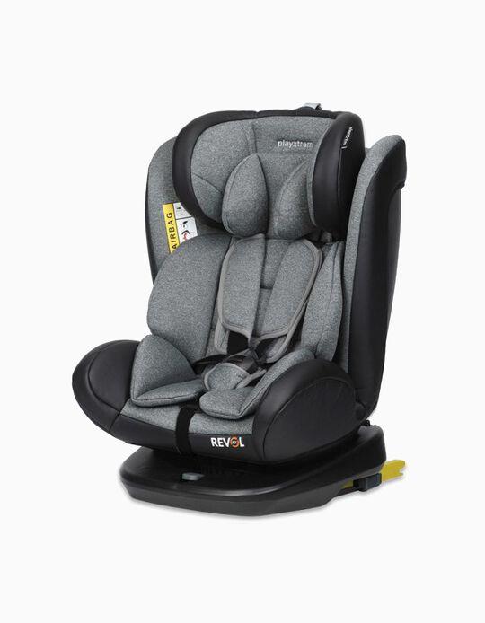 Cadeira Auto Gr 0/1/2/3 Revol Fix Playxtrem Rock