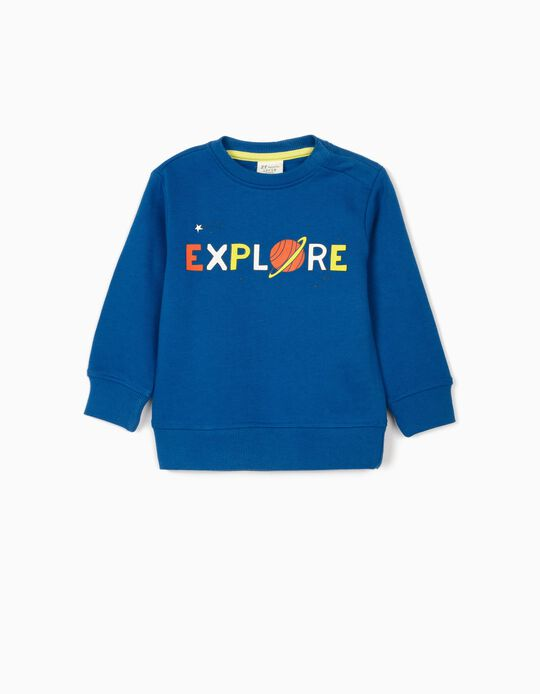 Sweatshirt for Baby Boys 'Explore', Blue