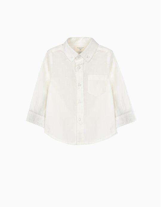 Plumeti Shirt for Baby Boys, 'B&S', White