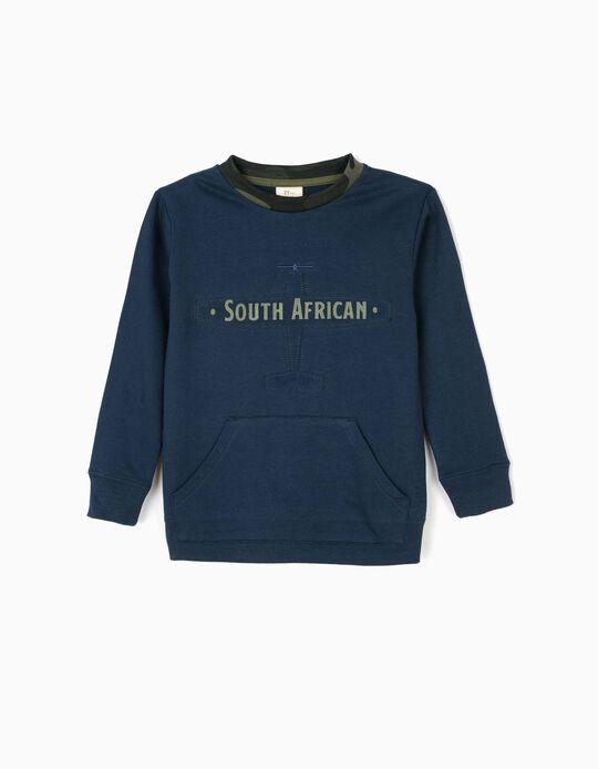 Sudadera para Niño 'South African', Azul Oscuro
